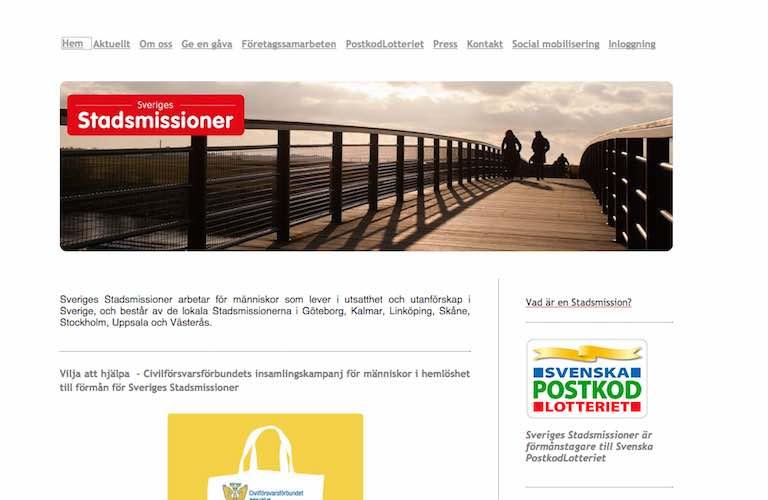 Sveriges stadsmissioner web