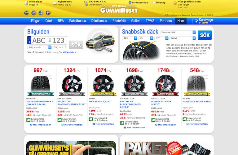 Svenska gummihuset web