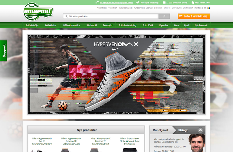 Unisport web