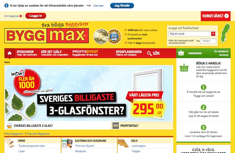 Byggmax web