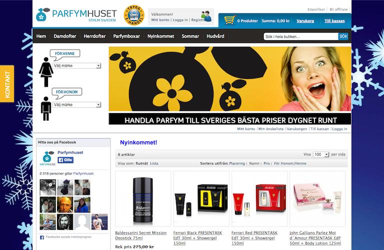 Parfymhuset.se web