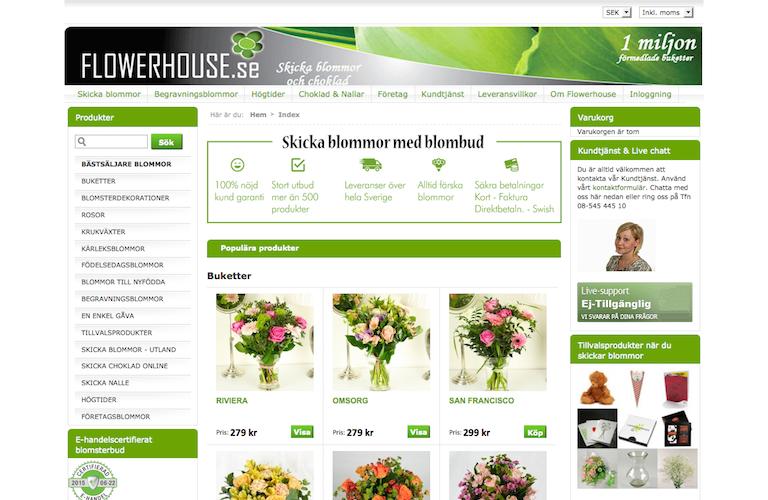 Flowerhouse web