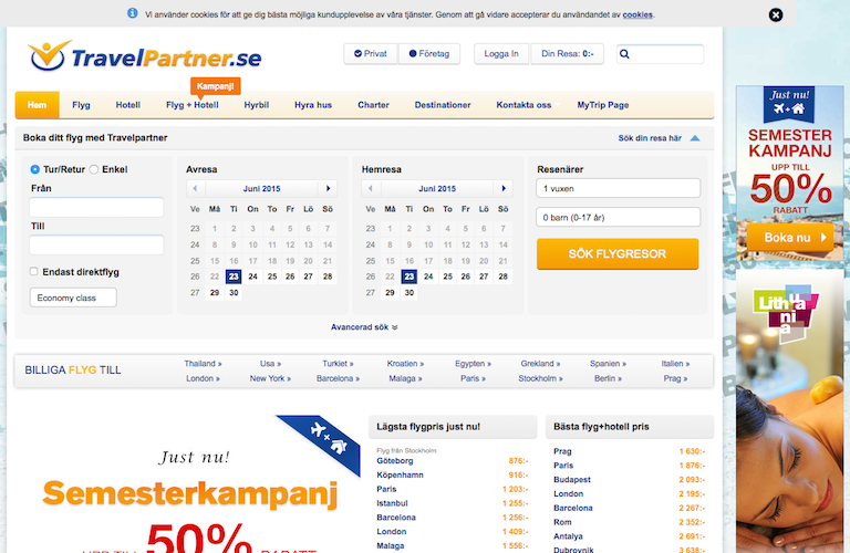 Travelpartner web