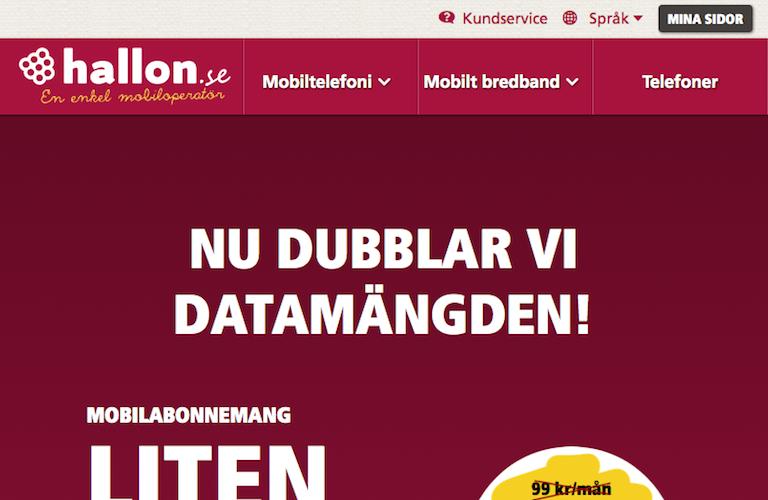 Hallon web