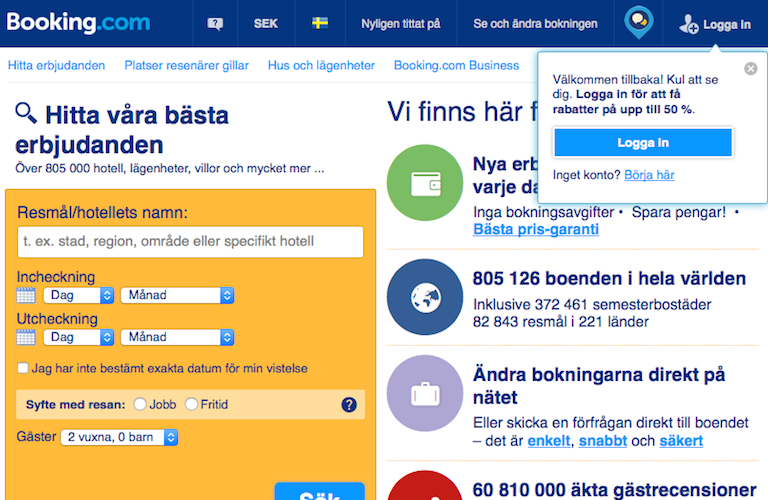 Bookingcom web