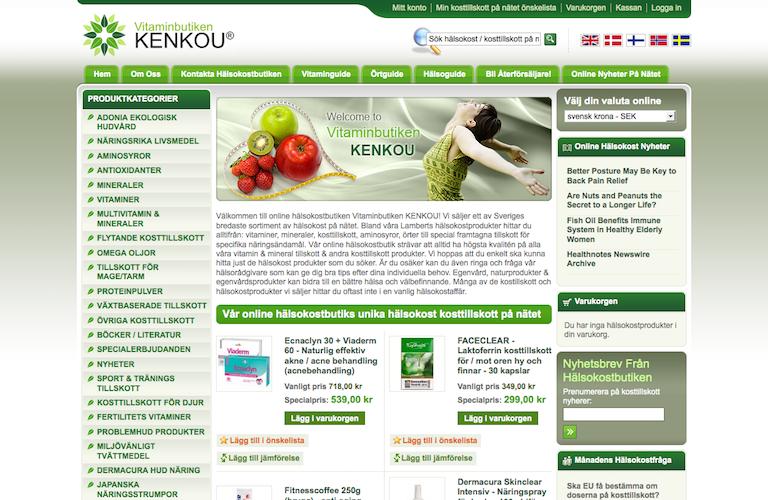 Vitaminbutiken kenkou web