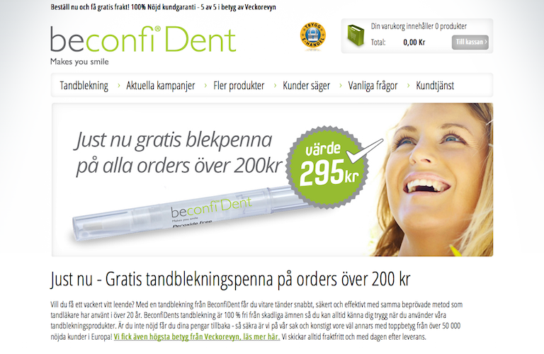 Beconfident web
