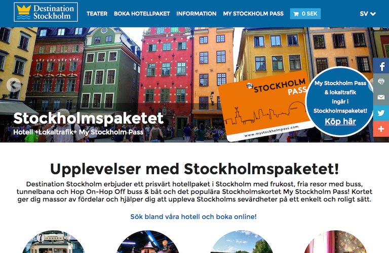Destination stockholm web
