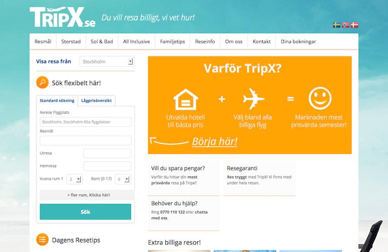 Tripx web