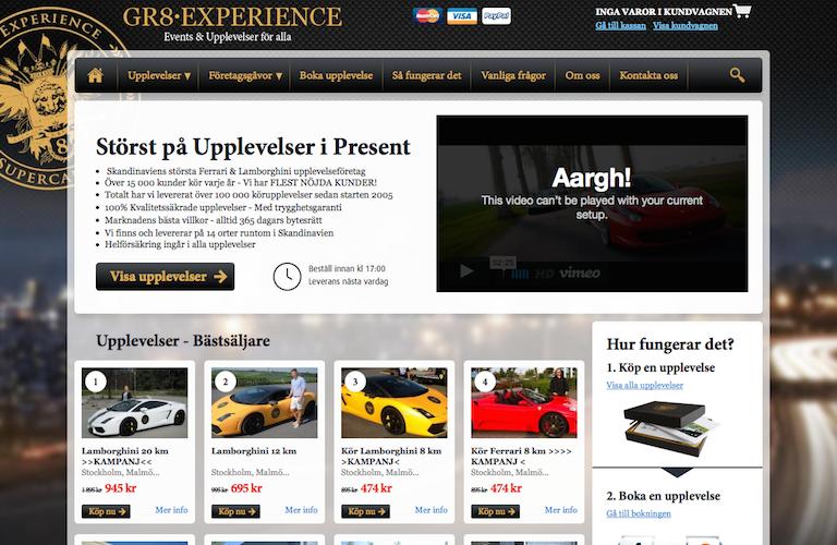 Gr8 experience web
