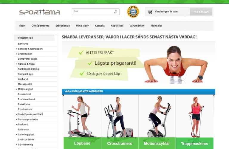 Sporttema web