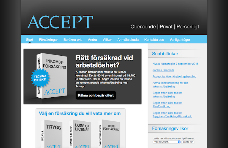 Accept inkomstforsakring web
