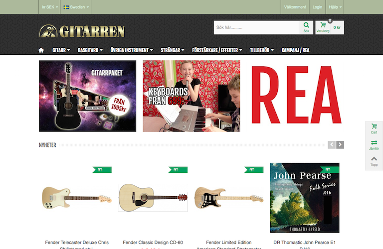 Gitarren.se web